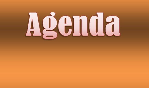 Agenda do Dia: Ter, 27 Setembro