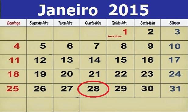Agenda: Qua, 28 Janeiro