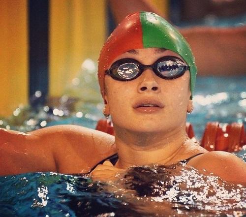 Nadadora do Fluvial competiu pela Seleção de Portugal